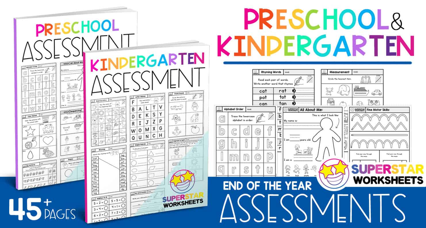 End Of The Year Assessment Packs