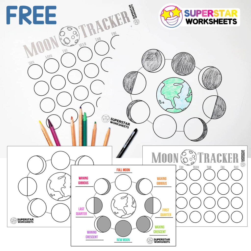 Phases Of The Moon Worksheets