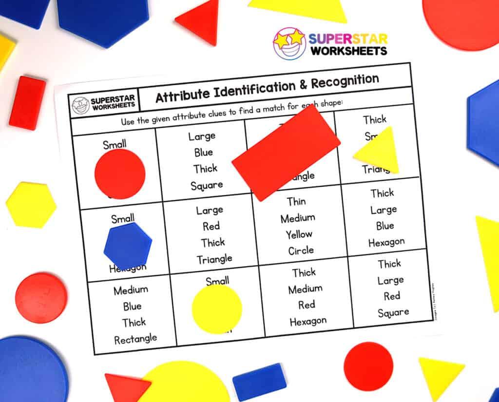 Shape Attributes Worksheets