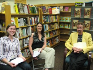 T.C. Boyle with Sara and Rebekah