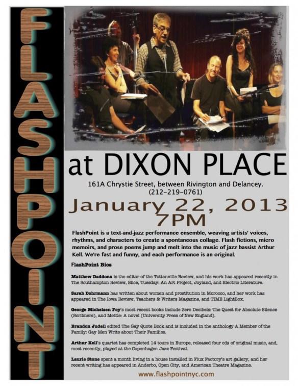 Flashpoint Dixon Place Jan 2013