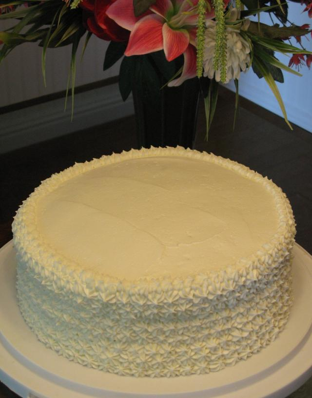 bavarian cream cake white almond cake with bavarian filling and white 1530