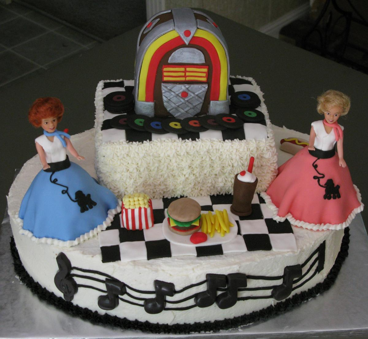 Rockin' and Rollin' 1950's Cake