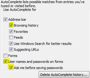 Remove Internet History