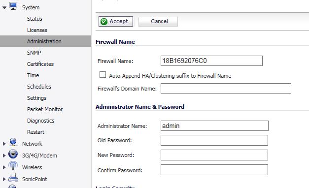 Set password