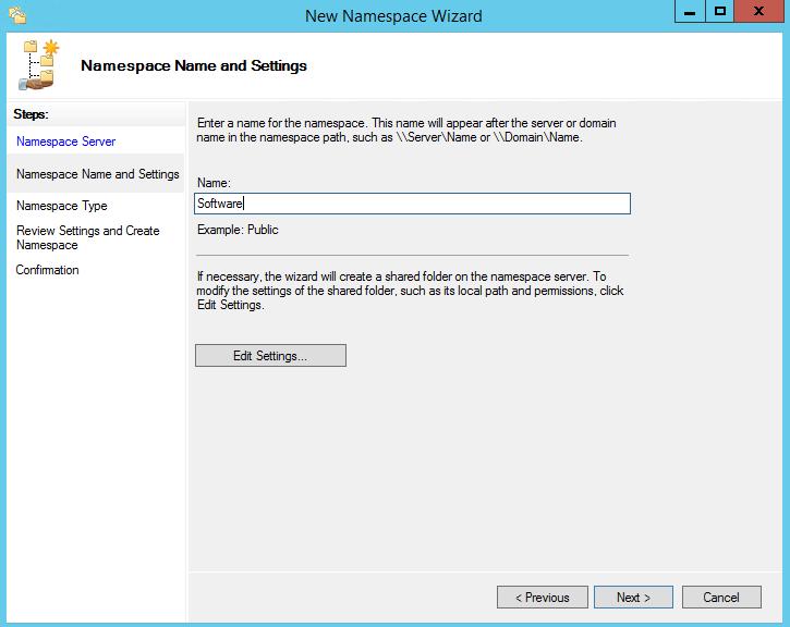 Namespace wizard