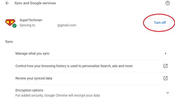 Google password sync