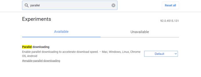 Parallel downloading flag