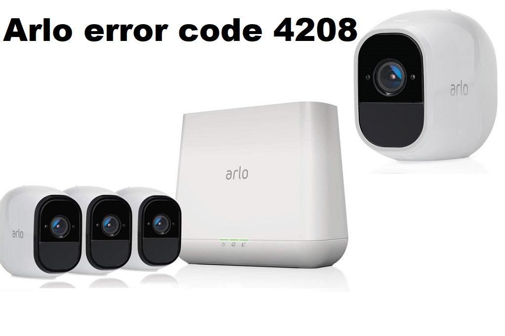 Arlo error code 4208