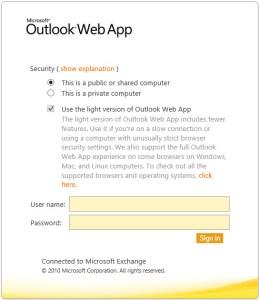 Outlook Web App 2010 Stuck In Light Mode