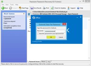Outlook 2013 Password Cracked