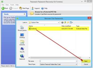Passware Kit recovering a lost Outlook Data File PST password E
