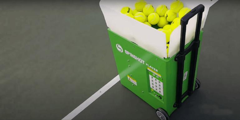 Practice Using a Tennis Ball Machine