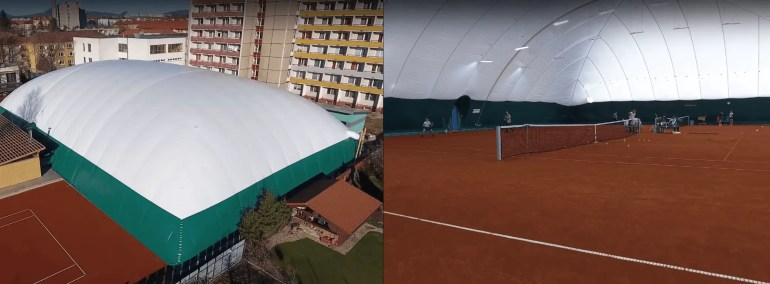 Tennis Dome Inner & Outer View