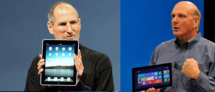 Apresentação do iPad vs Surface [Video]