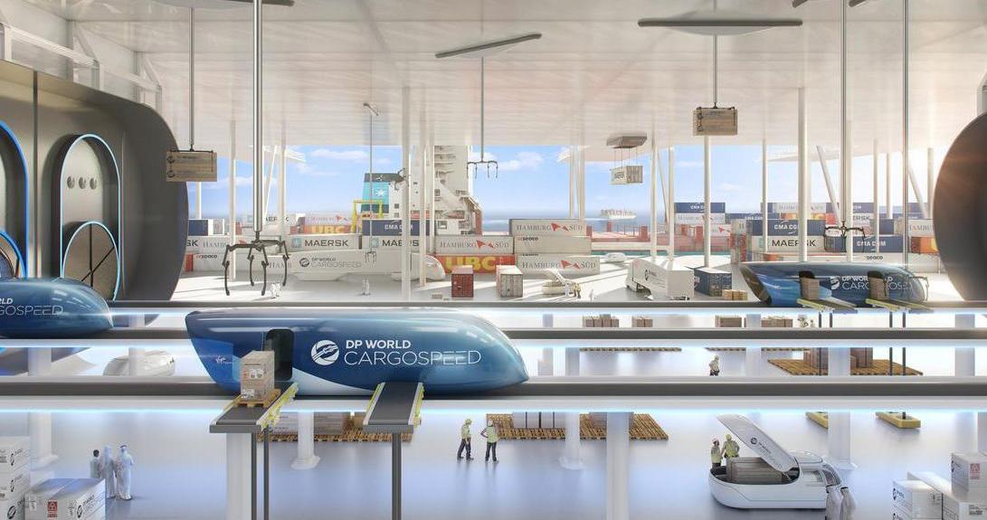 Hyperloop entra no transporte de mercadorias
