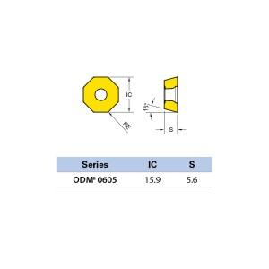 Plăcuță amovibilă pentru frezare ODMW 060508