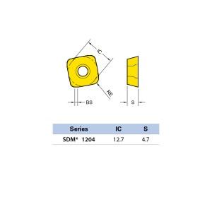 Plăcuță amovibilă pentru frezare SDMT 120420