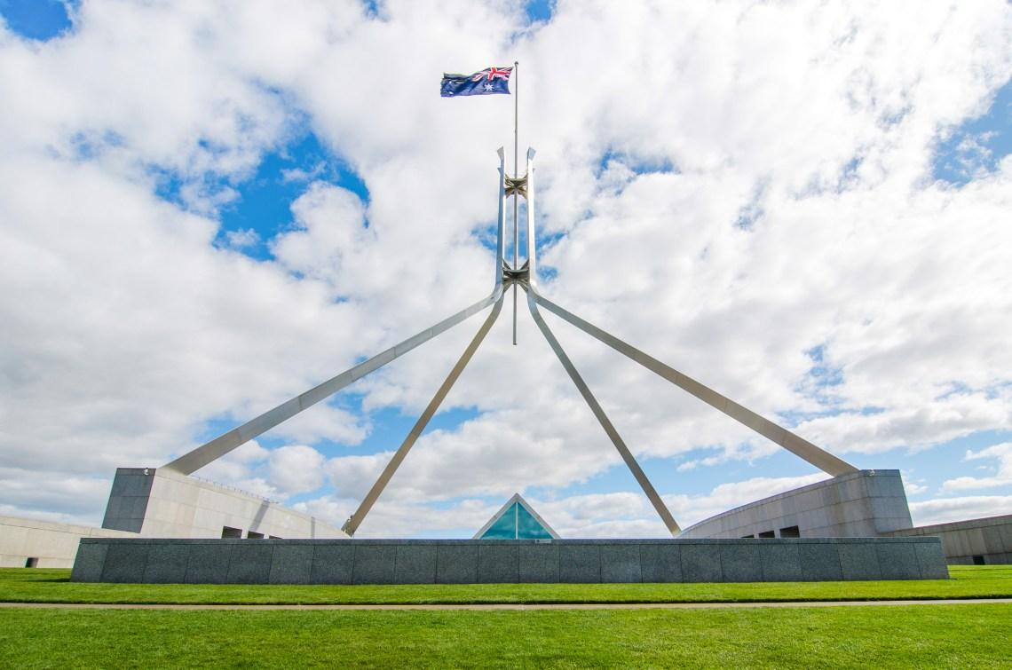 canberra parlement grandes villes d'australie