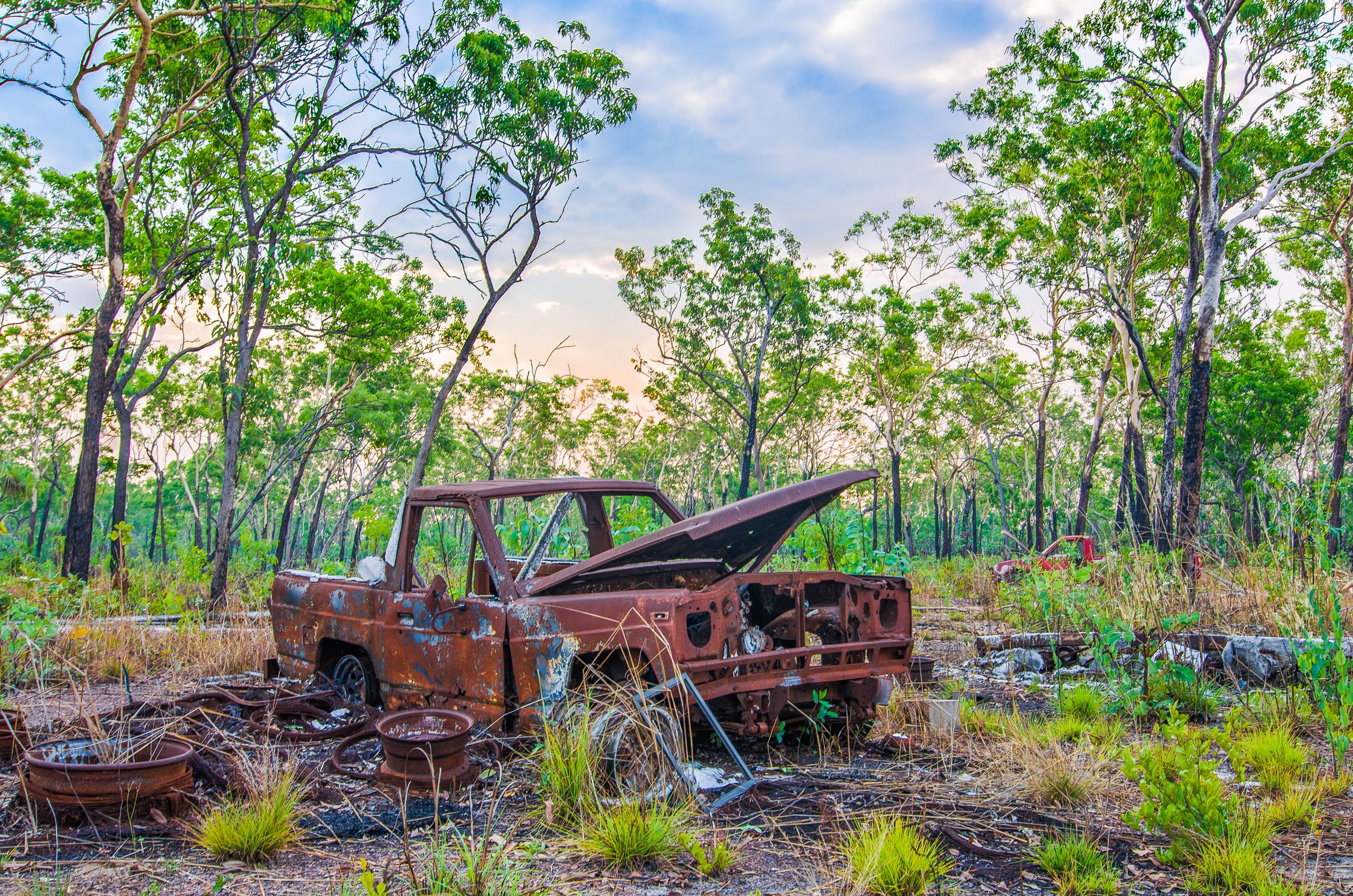 truck cemetery litchfield road trip darwin-cairns