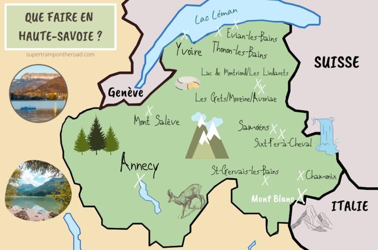 carte Haute-Savoie que faire en Haute-Savoie ?