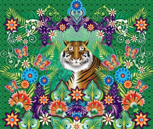 Mural Tiger de Catalina Estrada