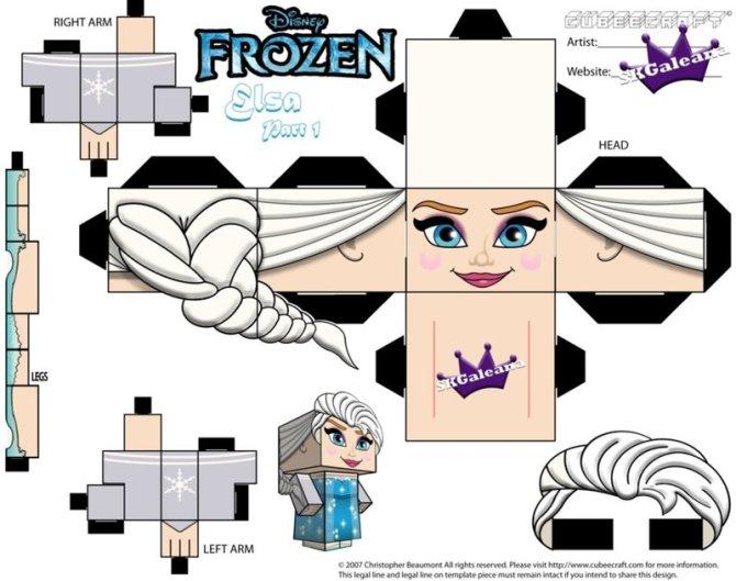Cubeecraft Elsa (Frozen) de SKGaleana