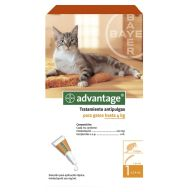 ADVANTAGE gatos hasta 4 kg 1 pipeta x 0,4 ml