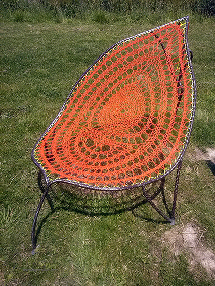 feuille orangee metal tresse supervolum (1)