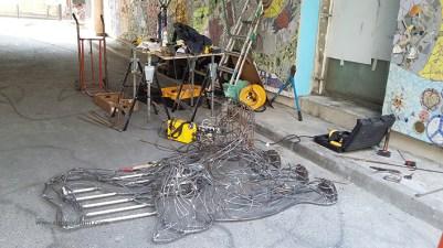 chat piat sculpture metal sara renaud supervolum (21)