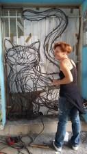 chat piat sculpture metal sara renaud supervolum (22)