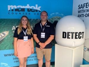 Martek staff Amy Johnson & Alex Roskoss