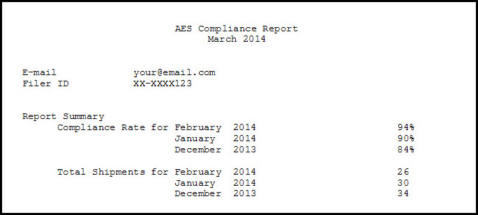 Exports: AES Compliance Report - Superior Freight Services Inc