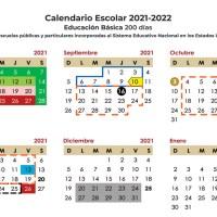 Publica SEP Calendario Escolar 2021-2022 para Educación Básica