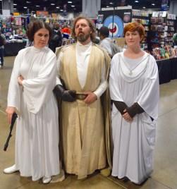 Princess Leia, Luke Skywalker & Mon Mothma