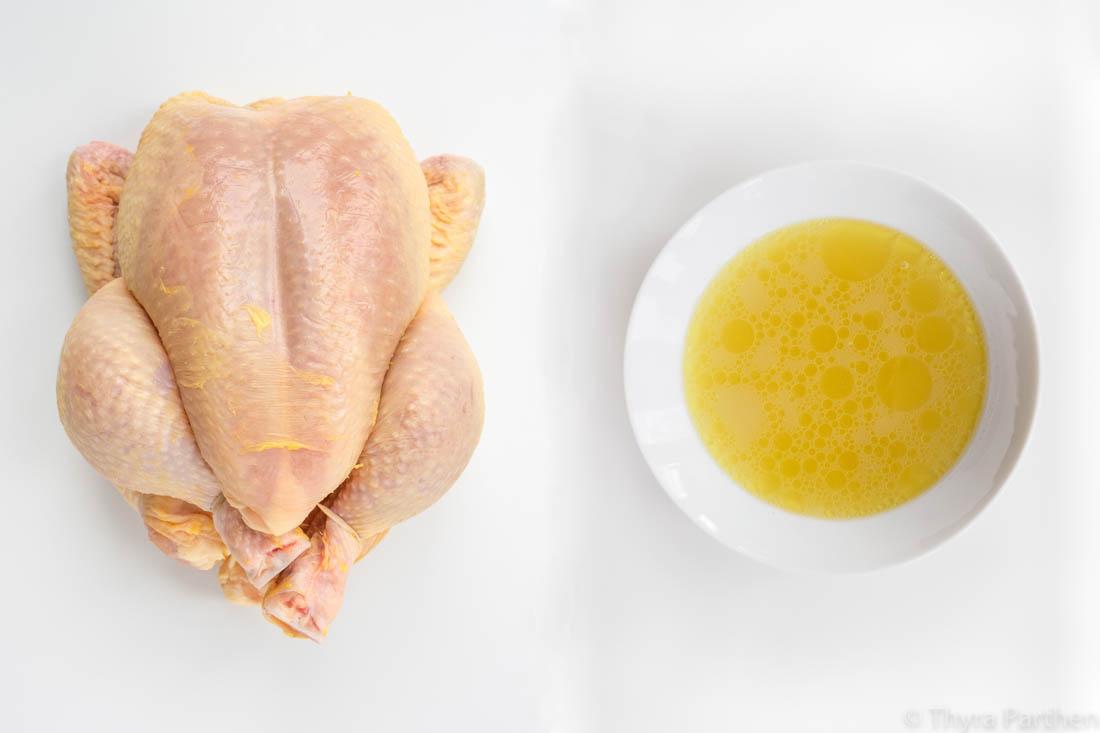 Hühnerbrühe für Ramen