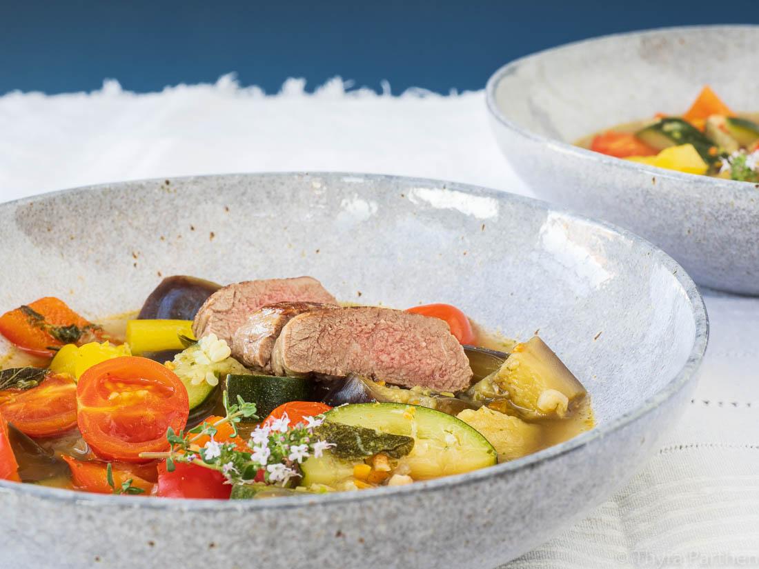 Provençalischer Gemüse-Eintopf mit Lamm