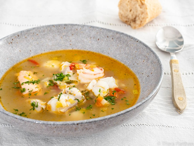 Rustikale Fischsuppe