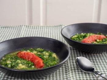 Caldo verde mit Chorizo