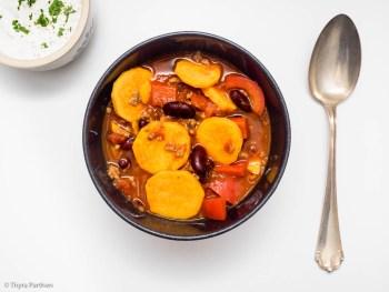 Chili con carne mit Süßkartoffel
