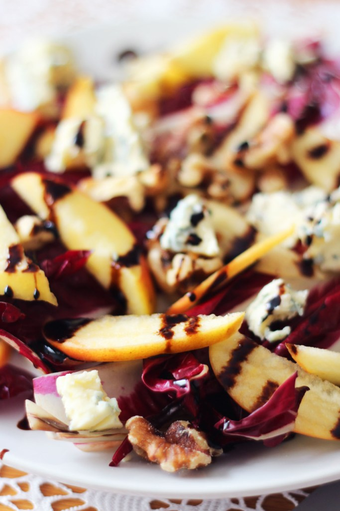 Salads are for winter too check out this Griddled Chicory Apple and Stilton Salad from Supper in the Suburbs