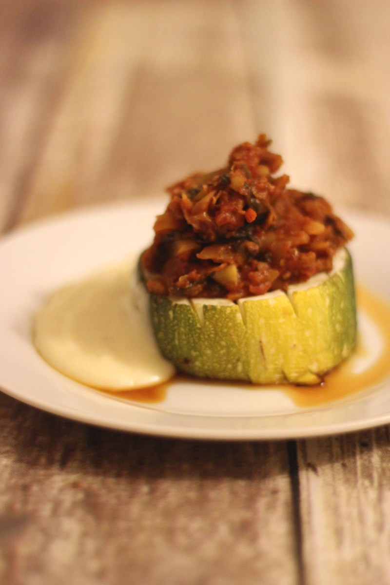 Recipe for Stuffed Marrows with Cheese Sauce fromSupper in the Suburbs
