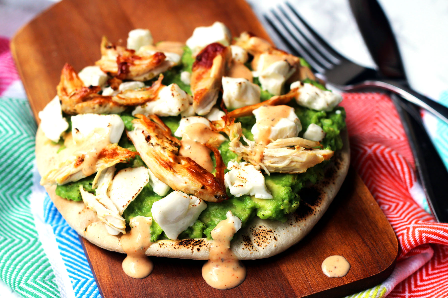 Chicken and Avocado Pizza
