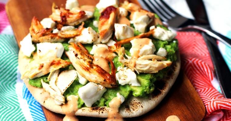 Chicken and Avocado Pizza