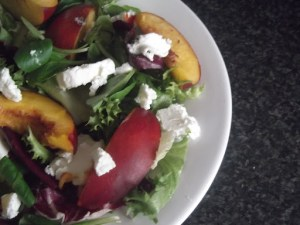 Warm Salad Series: Grilled Nectarine and Goats Cheese Salad