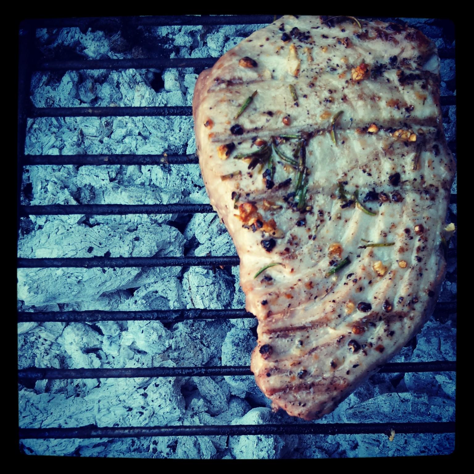 Char grilled Tuna Steak
