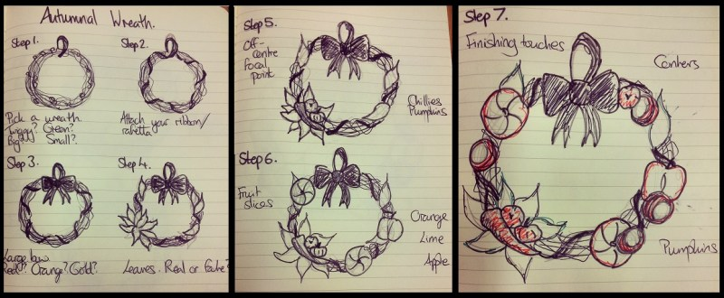 How to make an Autumn Wreath