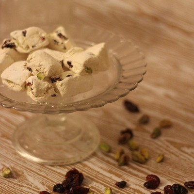 Cranberry and Pistachio Nougat