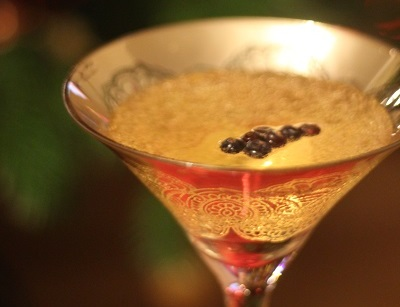 Juniper Berry and Champagne Cocktail