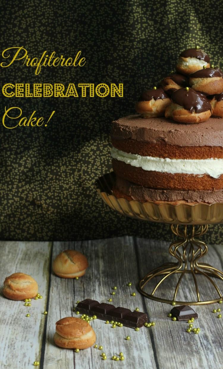 4. Profiterole Celebration Cake (Pinterest)